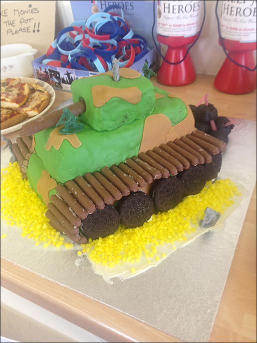 Nikki's tank cake