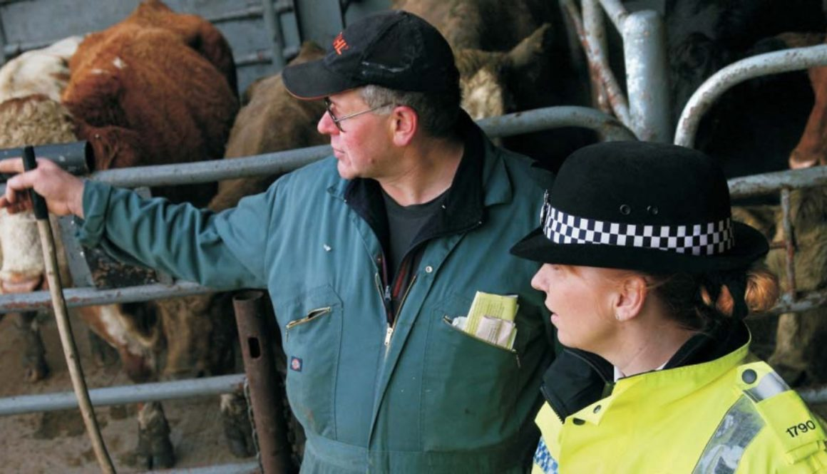 Farmer talking with a Police officer