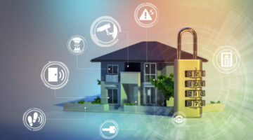 Smart Home Security Digital Illustration